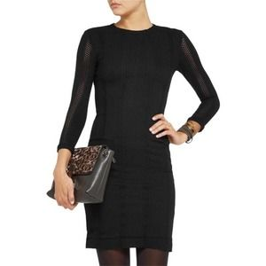 Rag & Bone Elsa Pointelle Knit Bodycon Dress 10